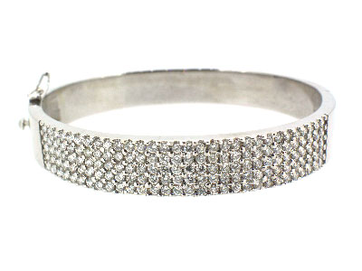 Bangle with diamond in 14K WHITE GOLD - 1036JNBD