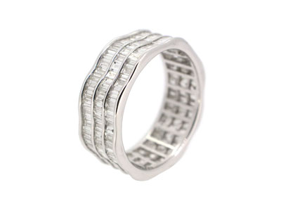 Designer Ring in 18K WHITE GOLD - 1177JNRD