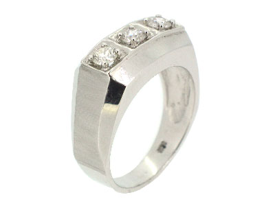 Men's Wedding Ring in 14K WHITE GOLD - 1527JNRM